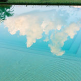 Reflection sky and tree of water Stock Image