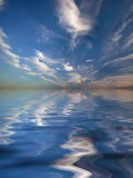 Reflection of the sky in water Royalty Free Stock Photography
