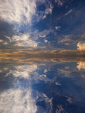 Reflection of the sky in water Royalty Free Stock Photo