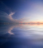 Reflection of the sky in water Royalty Free Stock Image
