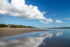 Reflection of sky in the water in Bali, Indonesia Royalty Free Stock Image