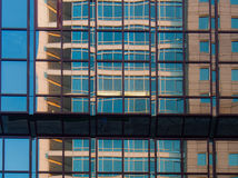 Reflection of a skycraper in another one,Frankfurt Stock Photography