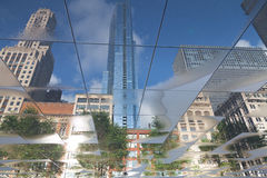Reflection of skyline of Chicago Royalty Free Stock Photography