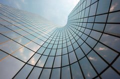 Reflection in a Skyscraper. Sky Reflection in a Skyscraper with modern Shape royalty free stock photography