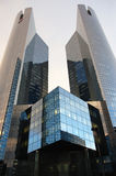 Reflection in a Skyscraper. Reflection in Skyscraper with a modern Shape royalty free stock images