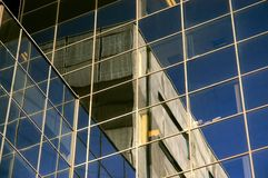 Reflection on a skyscraper Stock Image