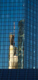 Reflection of a skyscraper in a glass facade, Frankfurt, Germany Stock Photography