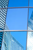 Reflection on skyscrapers. Reflections of skyscapers on each other Royalty Free Stock Image