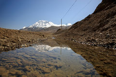 Reflection of snowcapped mountain Stock Image