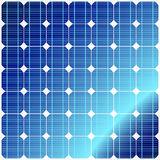 Reflection in solar panels Stock Photos
