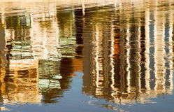 Reflection. Of some buildings on the seashore Stock Photo