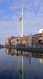 Reflection of Spinaker Tower Portsmouth Stock Image