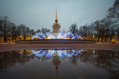 Reflection in St. Petersburg Royalty Free Stock Images