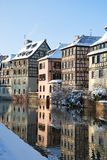 Reflection of Starbourg houses Royalty Free Stock Image