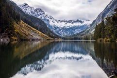 Reflection on Statlu Lake, Chilliwack Stock Image
