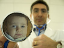 Reflection in stethoscope Stock Photo