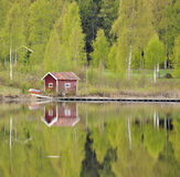 Reflection on still lake royalty free stock photos