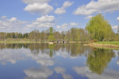 Reflection on still lake Royalty Free Stock Photography