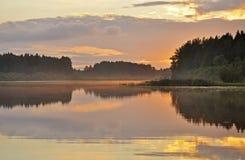Reflection on still lake Royalty Free Stock Photography