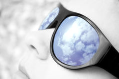 Reflection in sun glasses Royalty Free Stock Photography