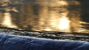 The reflection of the sun in the hot springs. stock footage