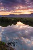 Reflection Sun Riase Stock Photos