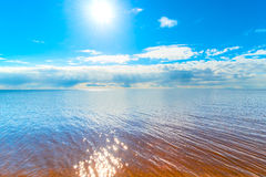 Reflection of the sun on the water Royalty Free Stock Images