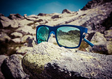 Reflection in sunglasses Royalty Free Stock Photo