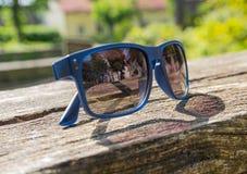 Reflection on sunglasses Stock Photography