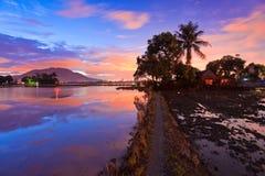 Reflection sunrise in Bukit Mertajam Penang Stock Photo