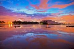 Reflection sunrise in Bukit Mertajam Penang Stock Photography