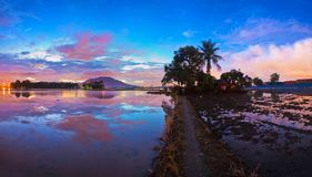 Reflection sunrise in Penang Stock Photography