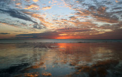 Reflection Sunset, Cable Beach, Broome,. Sunset on Cable Beach, Broome, North Western Australia Stock Photo