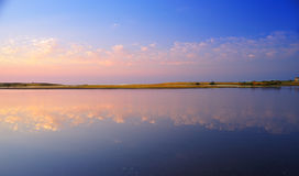 The reflection of the sunset in the sea2. Sunset reflection in the sea, the beautiful moments Royalty Free Stock Photos