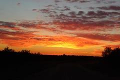 Reflection Sunset Royalty Free Stock Photo