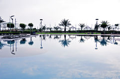 Reflection in a swimming pool Royalty Free Stock Photography