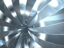 Reflection swirl. 3D chrome reflection swirl in future tunnel Royalty Free Stock Photography