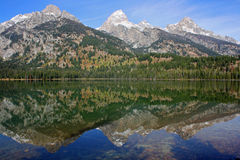 Reflection in Taggart Lake Royalty Free Stock Photography