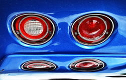 Reflection of Tail Lights Stock Photography