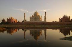 Reflection of Taj Mahal Stock Photo
