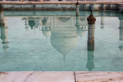 The reflection of Taj Mahal mausoleum in the pool Royalty Free Stock Photos