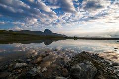 Reflection in a tarn, Pemberton British Columbia Stock Photography