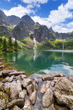 Reflection of Tatra mountains in lake Royalty Free Stock Image
