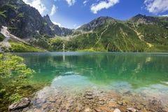 Reflection of Tatra mountains in lake Royalty Free Stock Image