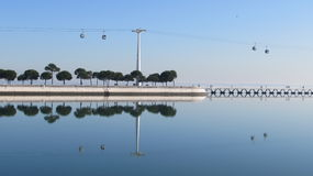 Reflection on the  Tejo river Royalty Free Stock Photos