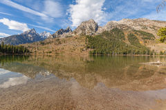 Reflection of Tetons in Fall Stock Photos