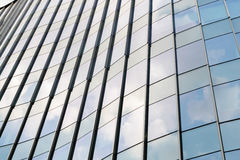 Reflection of tower building business on building mirror. Abstract background. Stock Photo