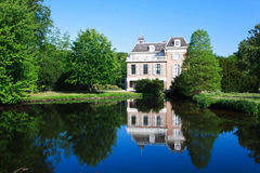 Reflection of Townhouse House. The townhouse of the public Clingendael Park royalty free stock photography