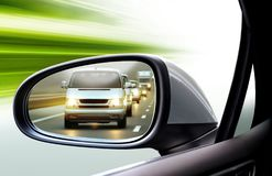 Left side rear view mirror royalty free stock photo