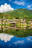 Reflection of tribute village in Ban rak thai Royalty Free Stock Photo